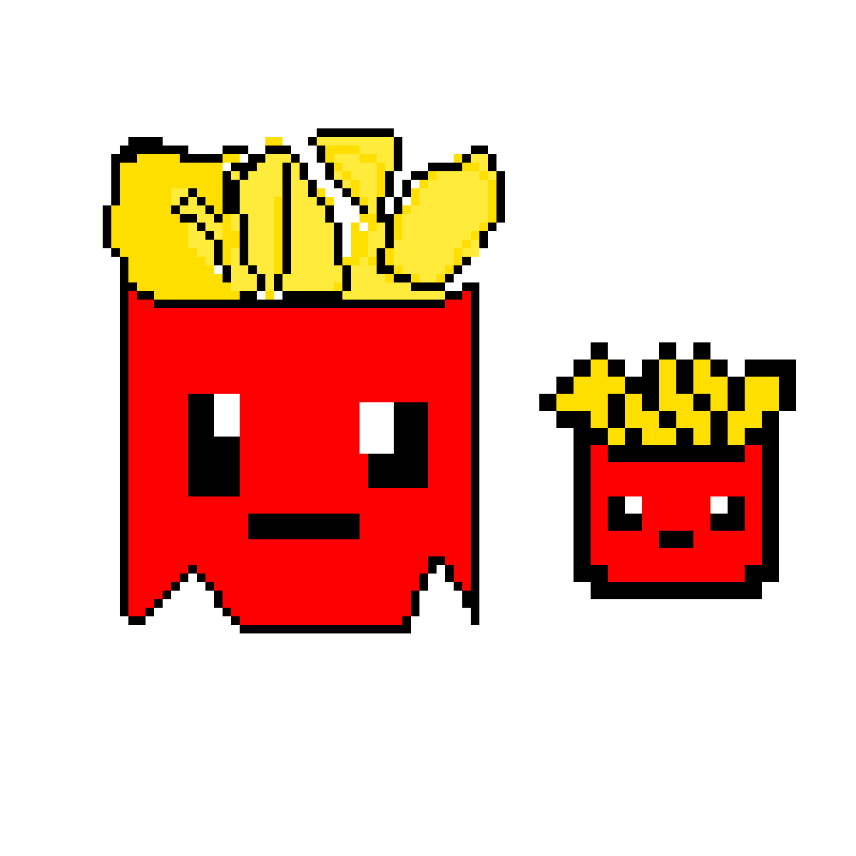 Fries (first pixel art) by WolfMasterIcy