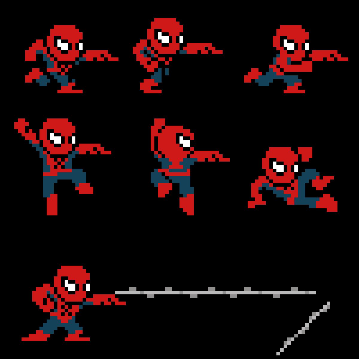 Pixilart Spider Mansprite Sheet By Jack Debris