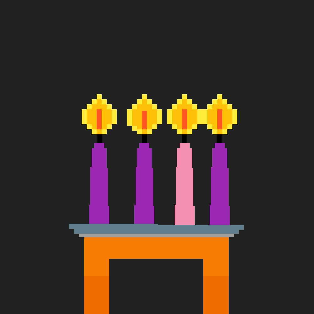 Lent Candles by Wolferseer5648