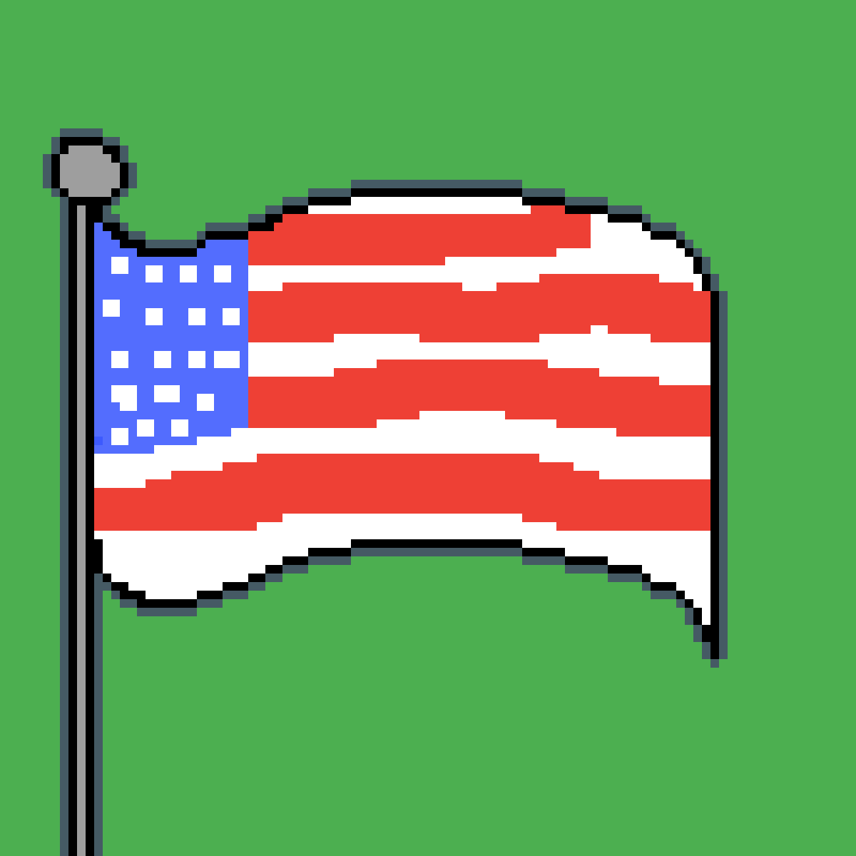 American Flag by Black-Fire