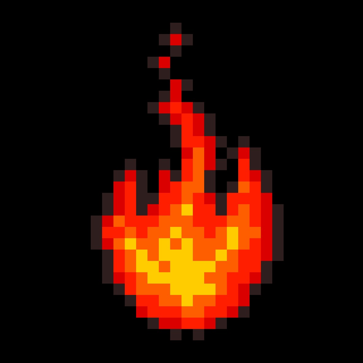 Pixilart Fire By Pixely Joe