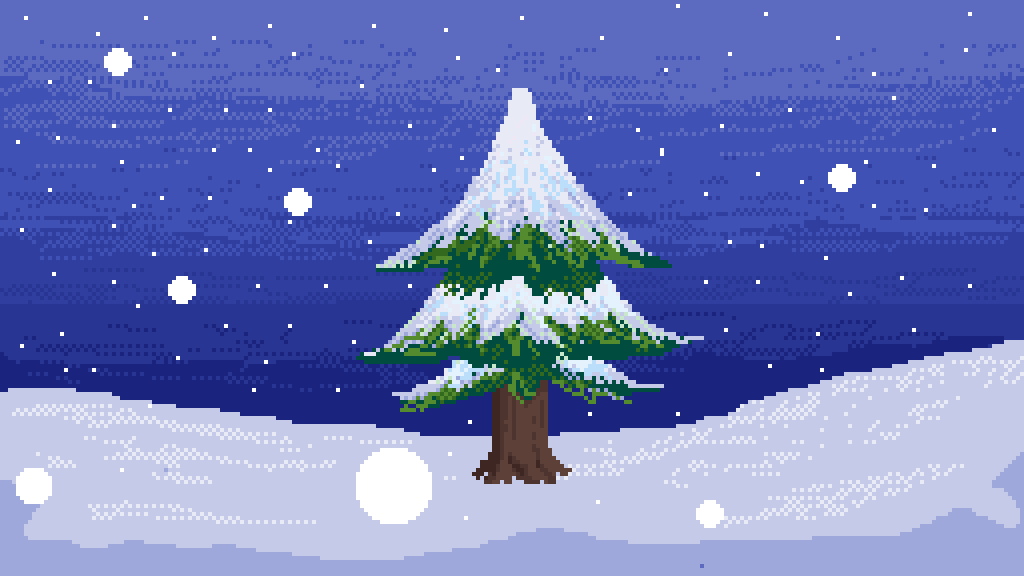Snow and a Tree by HeyItsRB
