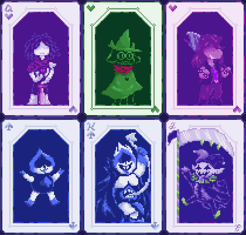 Pixilart - Deltarune Playing Cards by Dopey-Dragonite
