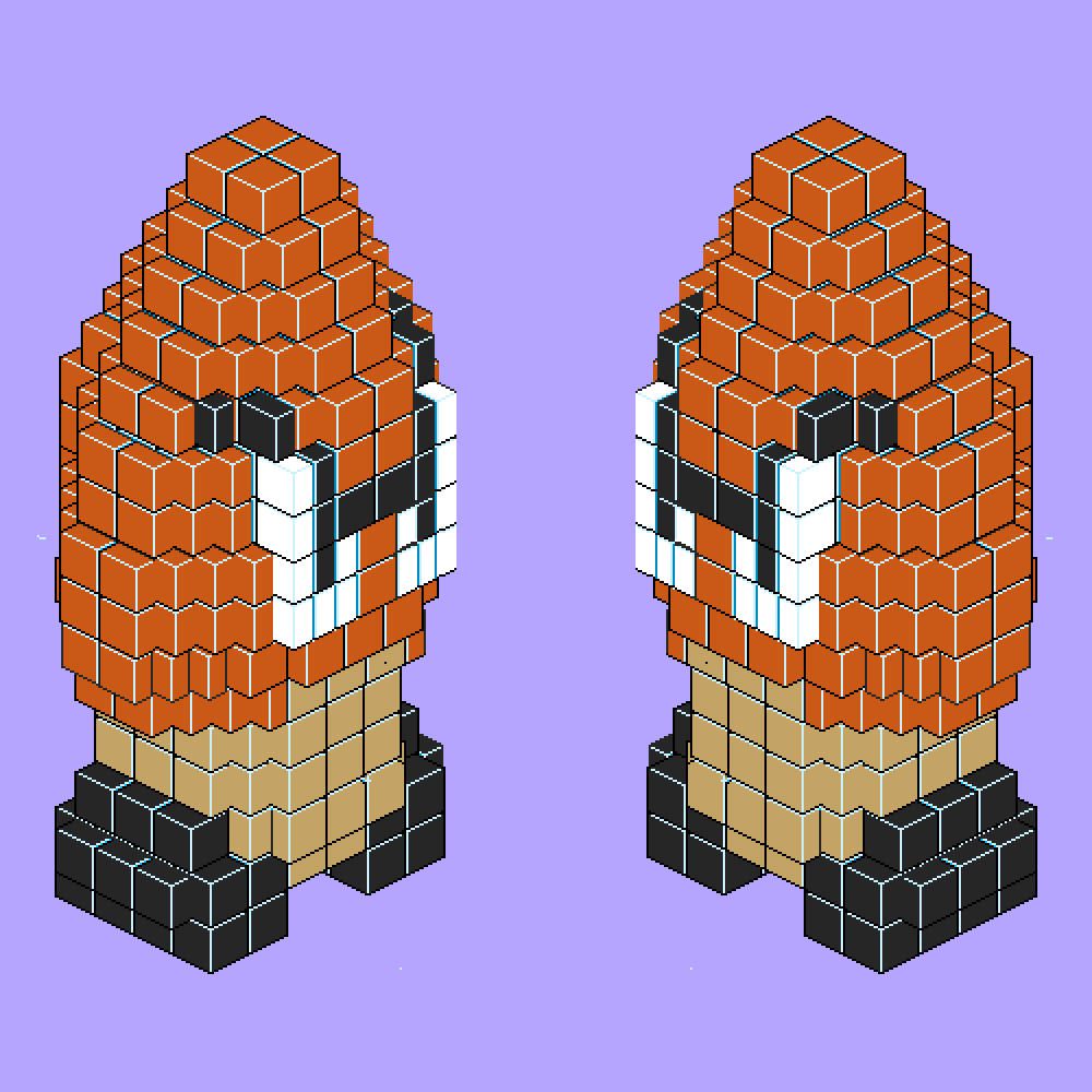 Isometric Goombas (Super Mario Bros.)