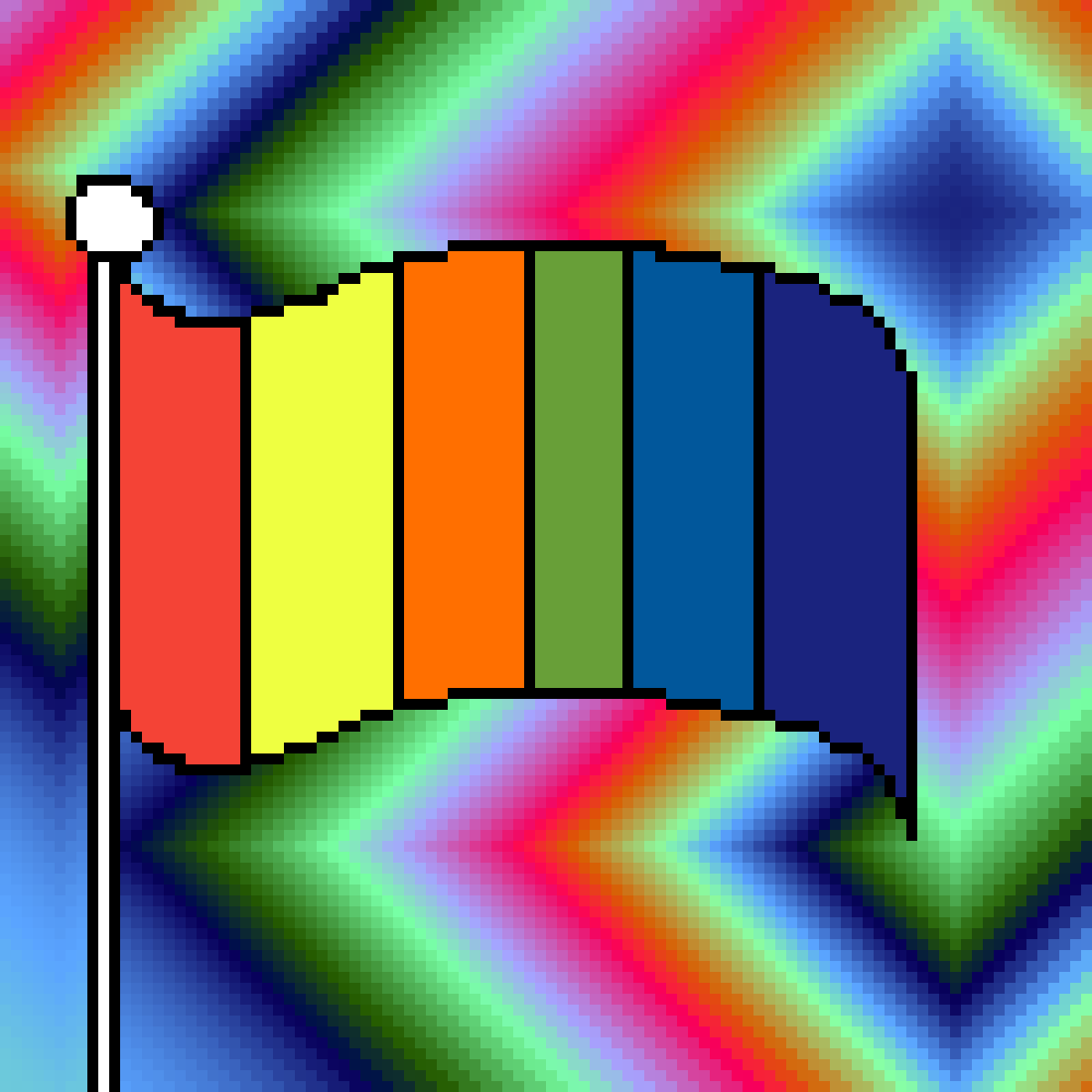"Wow that's a beautiful ""RAINBOW FLAG""   :