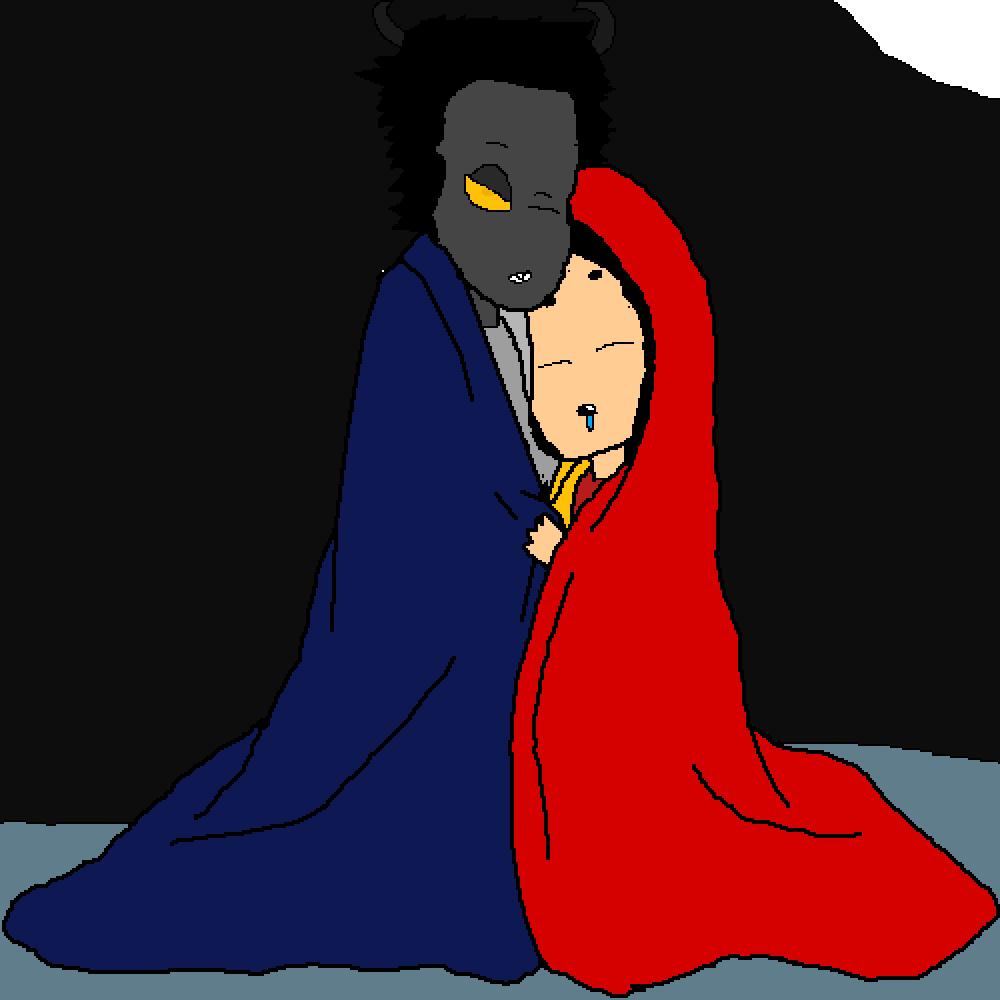 me and oc sleeping by sans-sans-jack