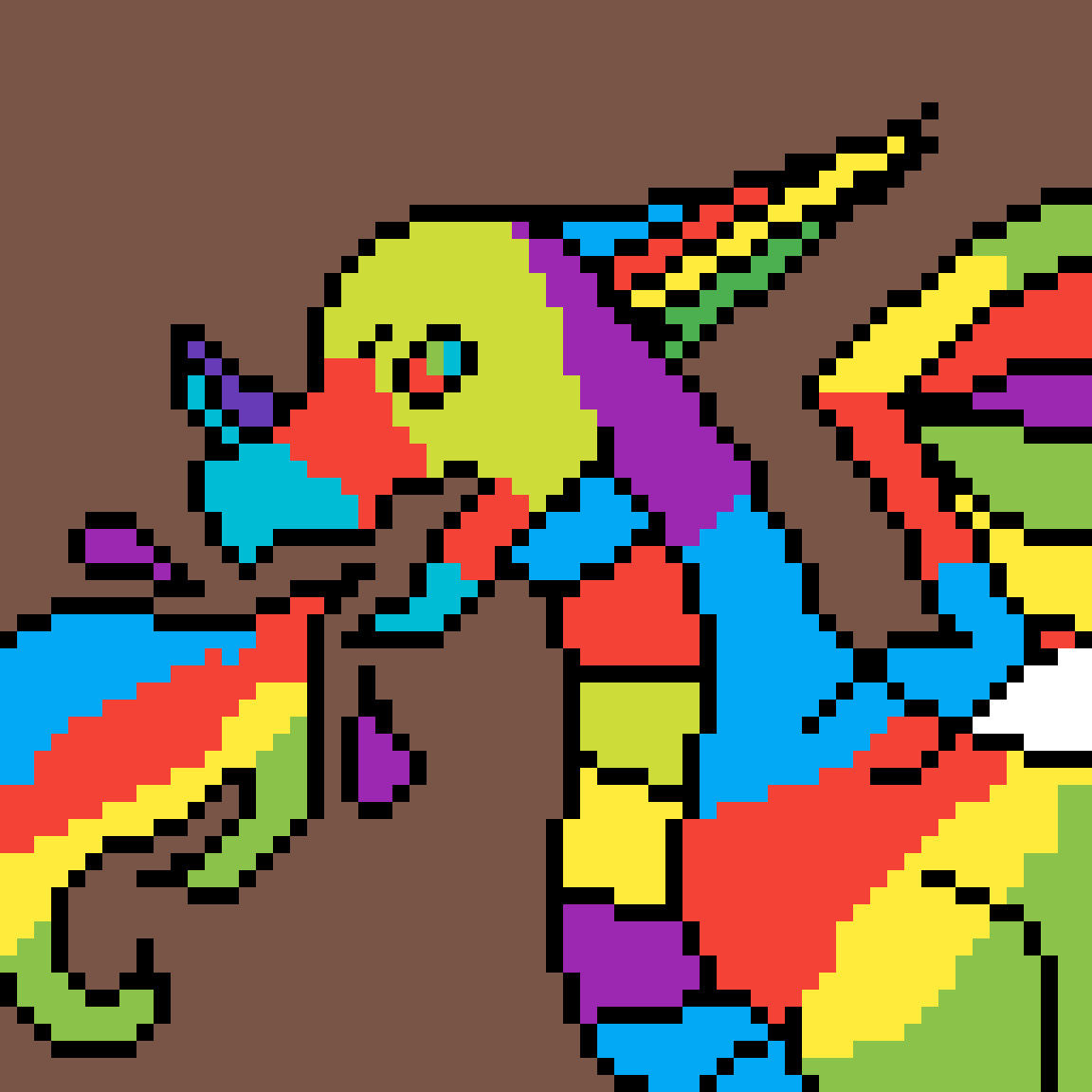 Rainbow dragon  by Lolstepper