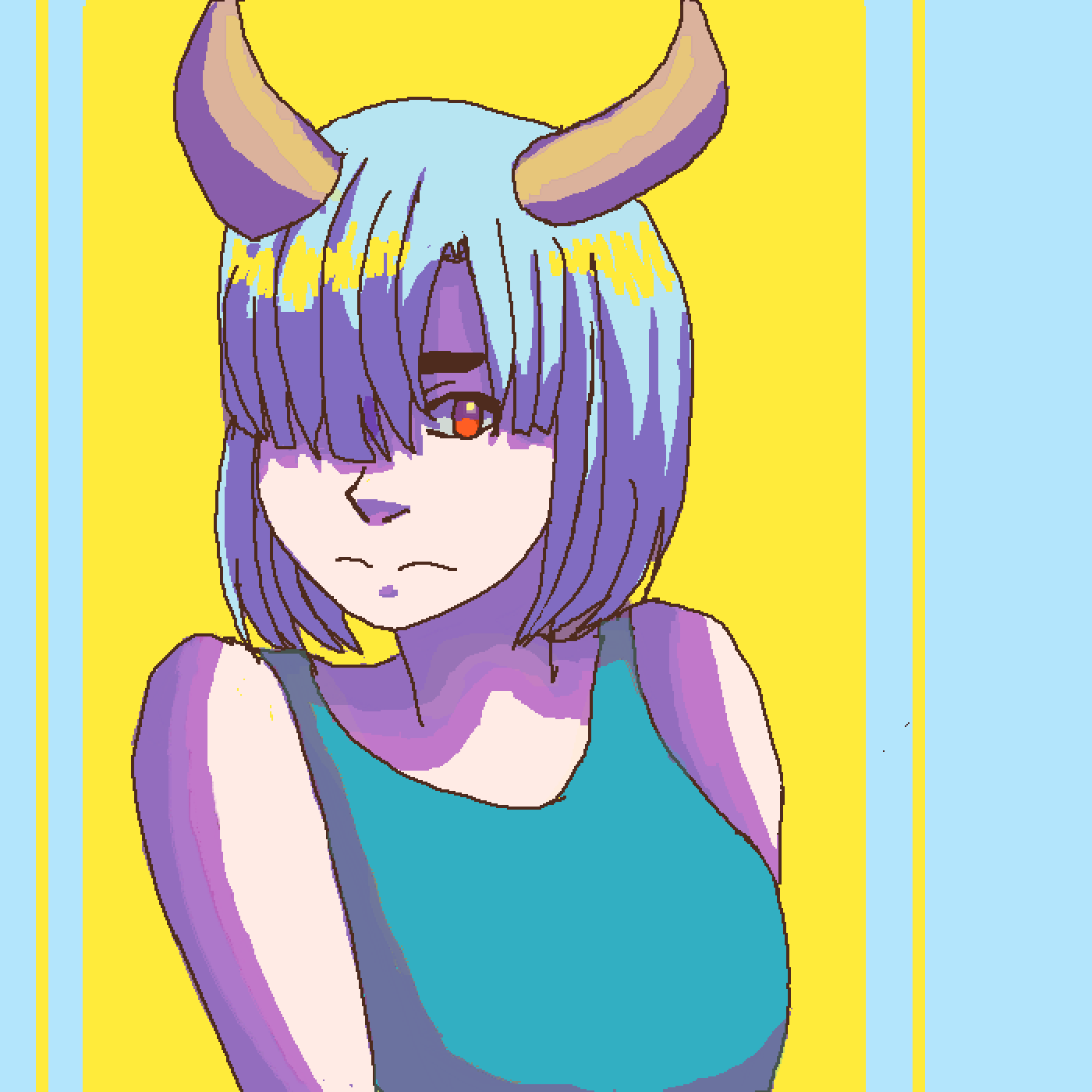 Horned Gal by Space-Dad