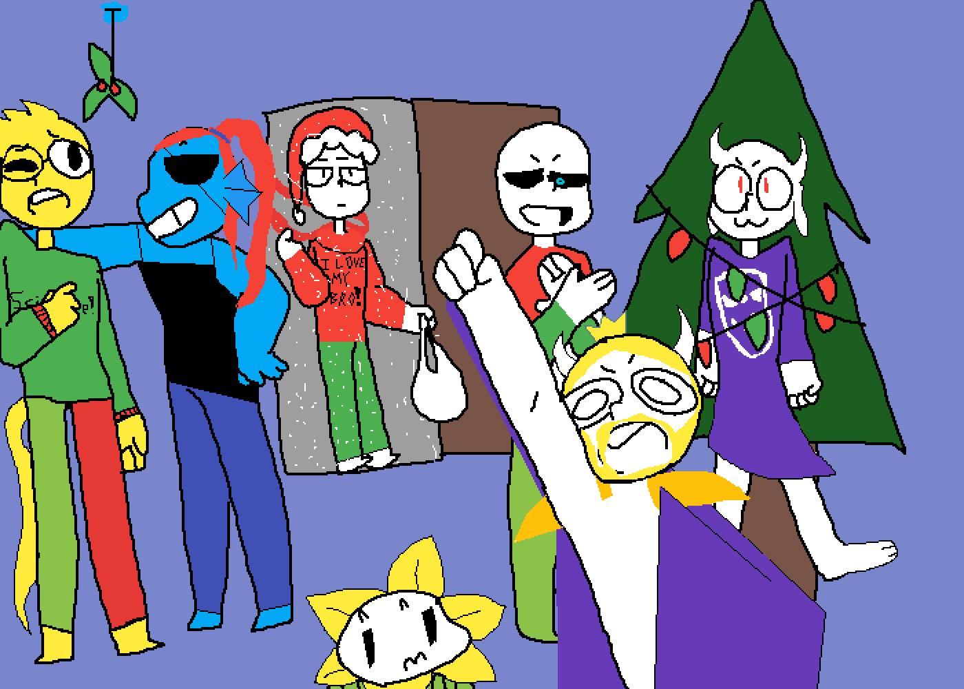 Undertale Christmas.Pixilart An Undertale Christmas By Slime Tale
