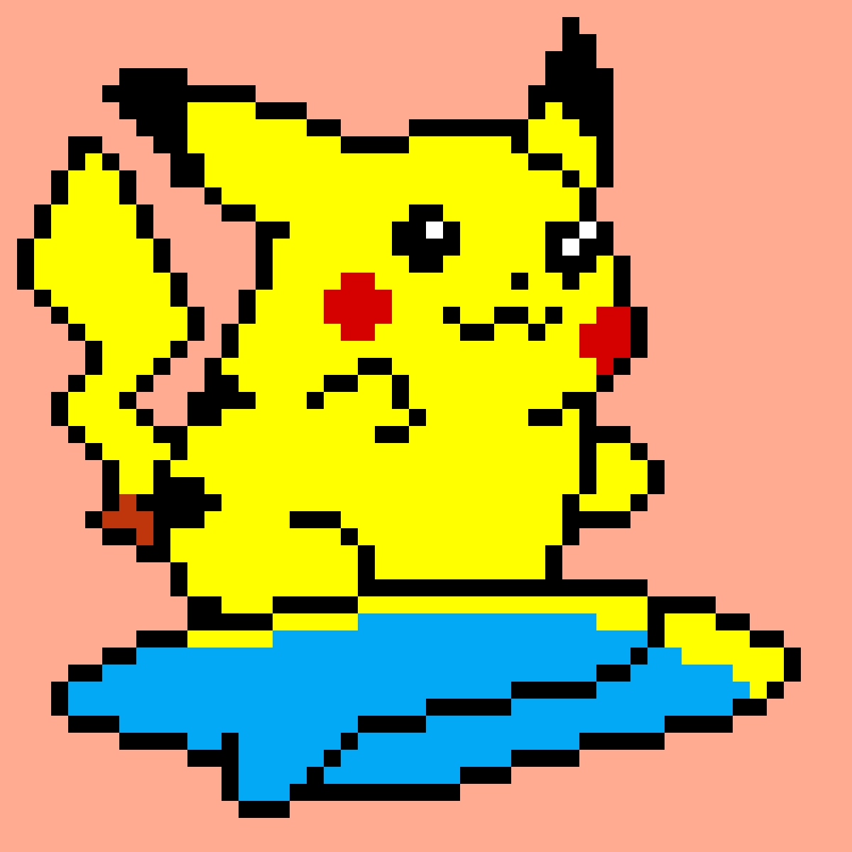 surfing Pikachu by Moonqueen
