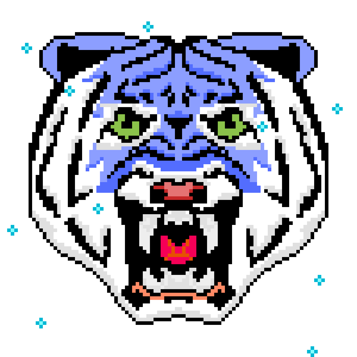 Blue Tiger by Cynical-Pixel
