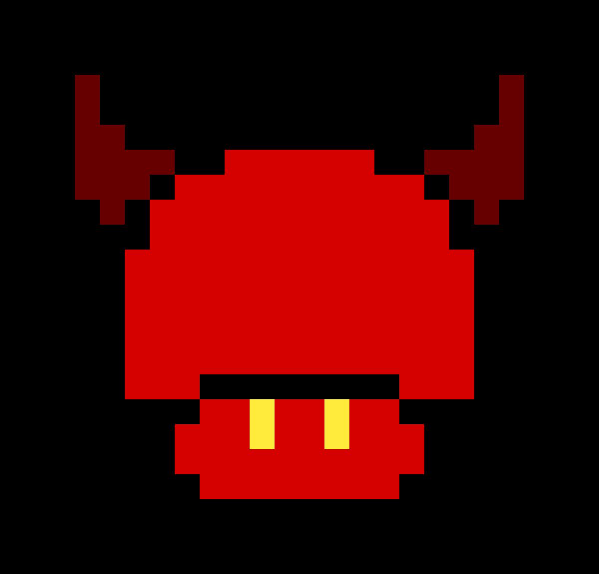 Pixilart Devil Mario Mushroom By Pan Hope