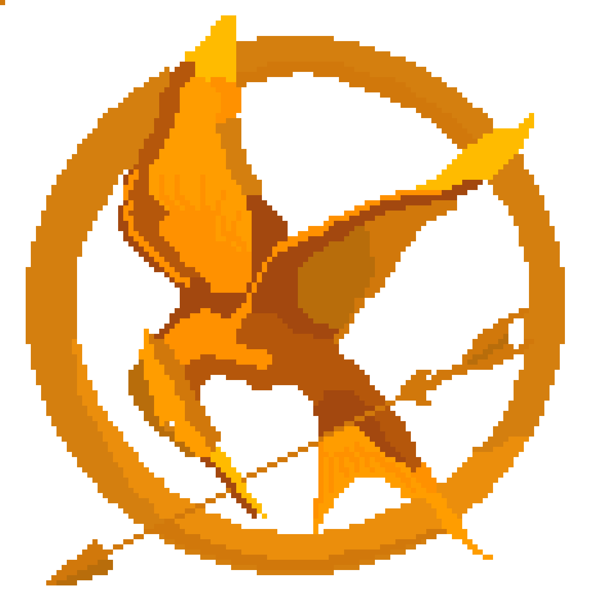 Pixilart Mockingjay Symbols The Hunger Games By Lachy The Fairy