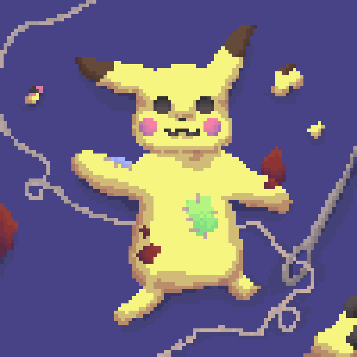 Fixing Pikachu by LadyPig