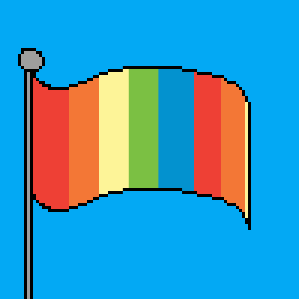 the gay flag by mimi123