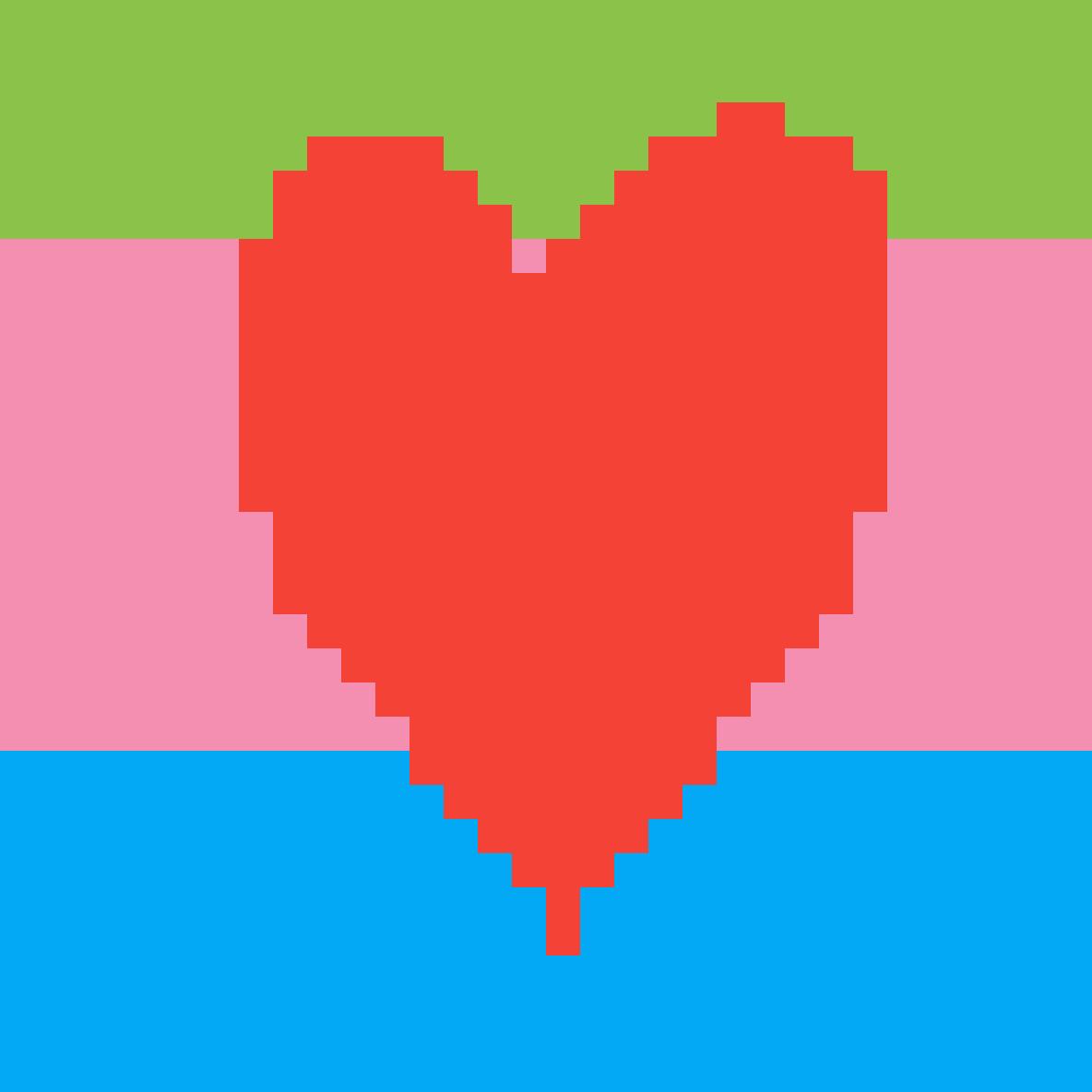 My fan made LGBTQ flag by NoodleCrona2D