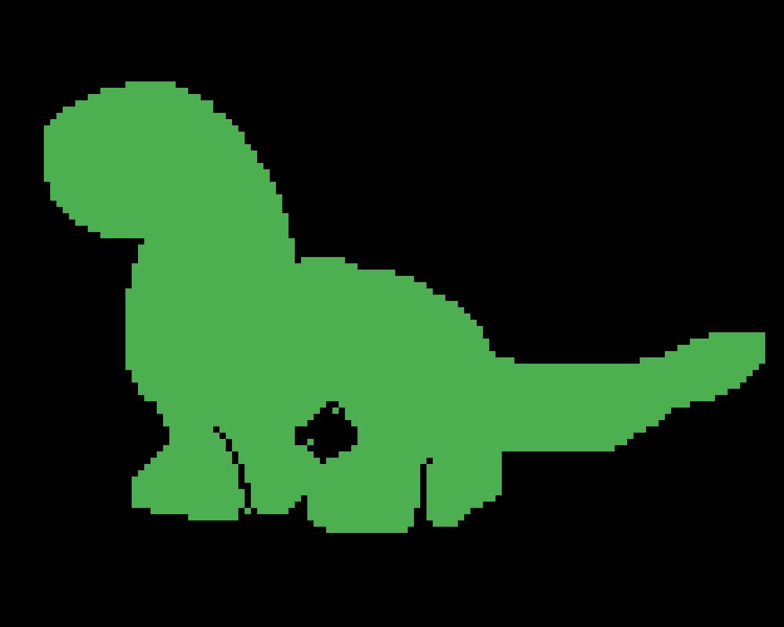 Pixilart Dino Outline By Theplasmahawk