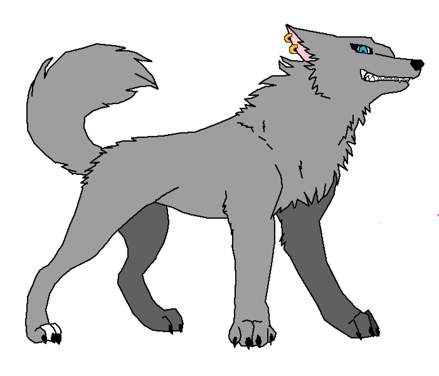 wolf base by Featherfoxy
