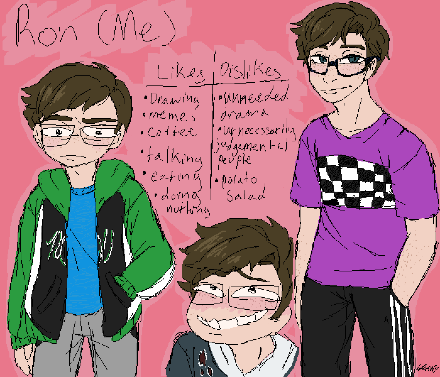 main-image-Reference Sheet of Me (Updated)  by ronny-boi