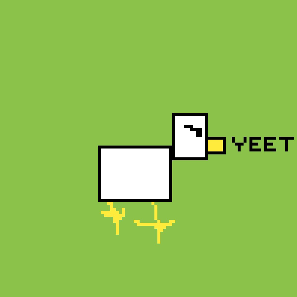 minecraft chicken by yeetboi12346