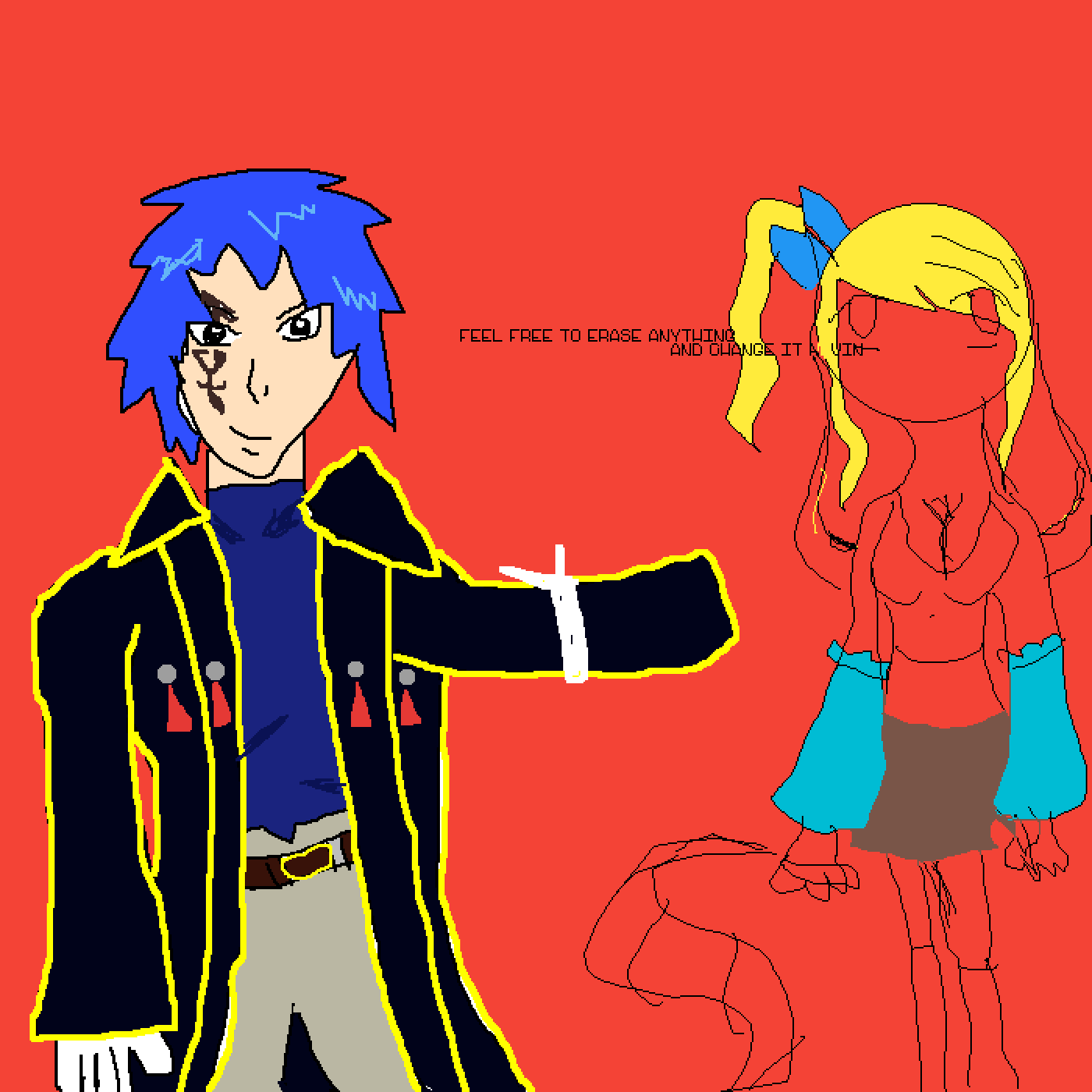 jellal and lucy by ace