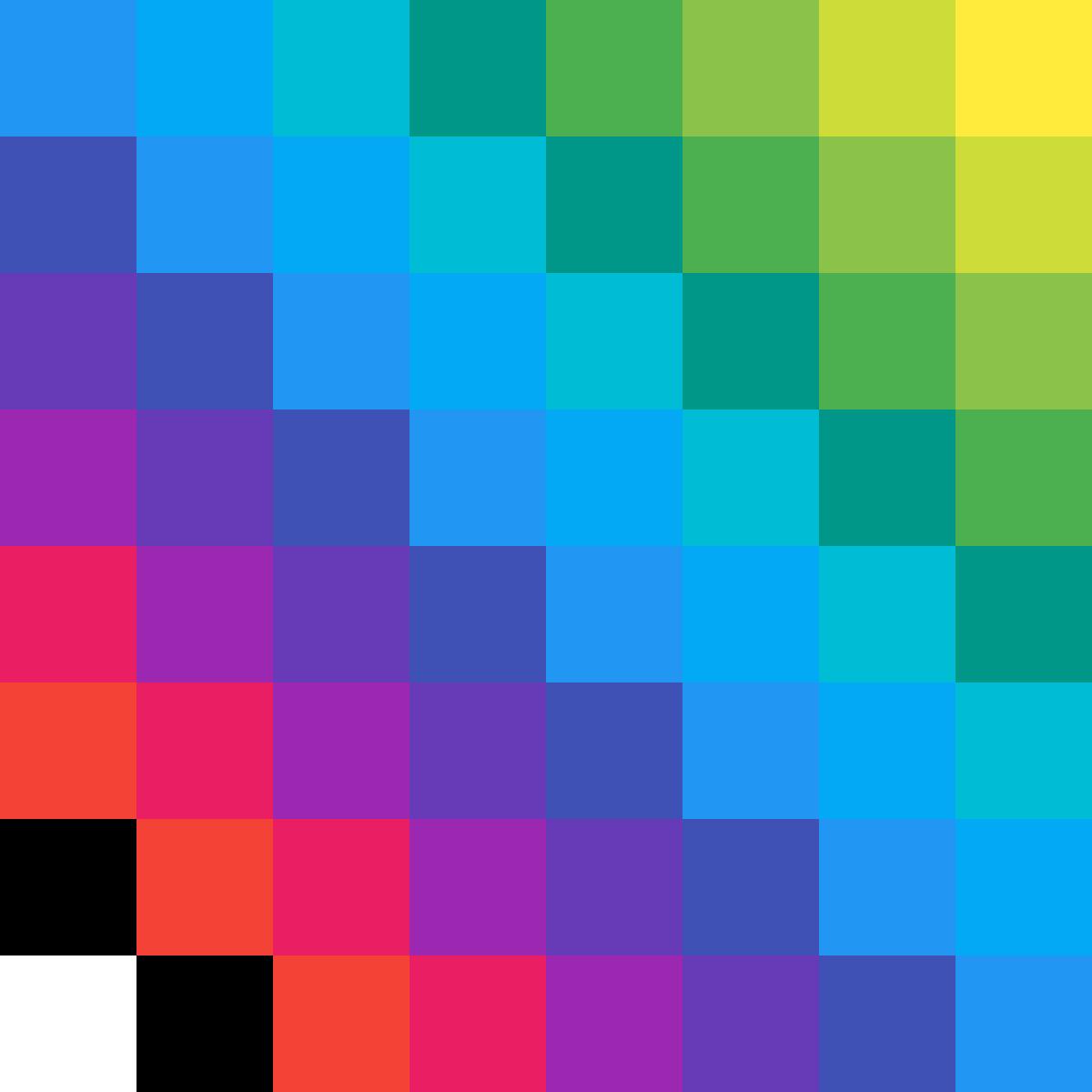 8*8 Drawing Rainbow by AmmazingBubby34