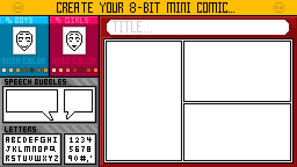 pixilart create your 8 bit mini comic this is a template by fleja