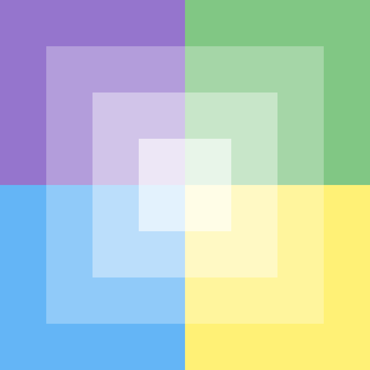Purple blue green and yellow by Phh