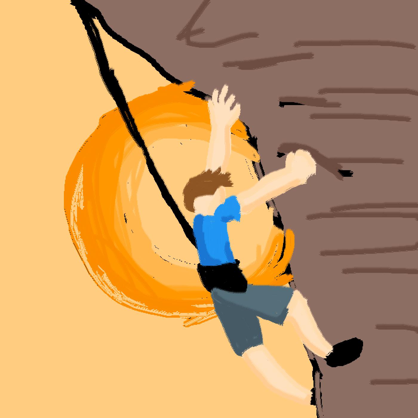 main-image-Idk he's climbing (it's not the best)  by raggamuffinkyut