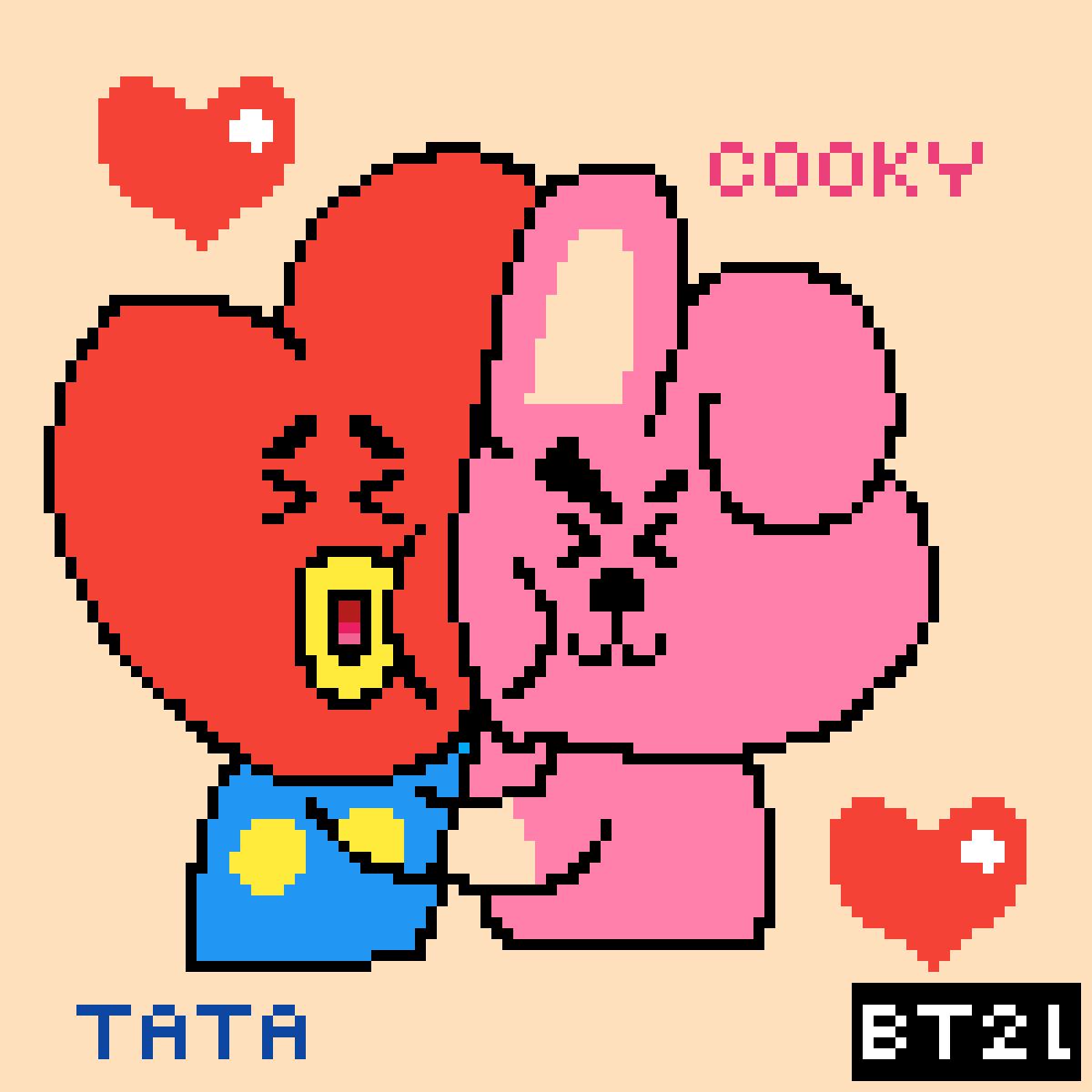 Pixilart - [BT21] Cooky & TaTa by pixiered