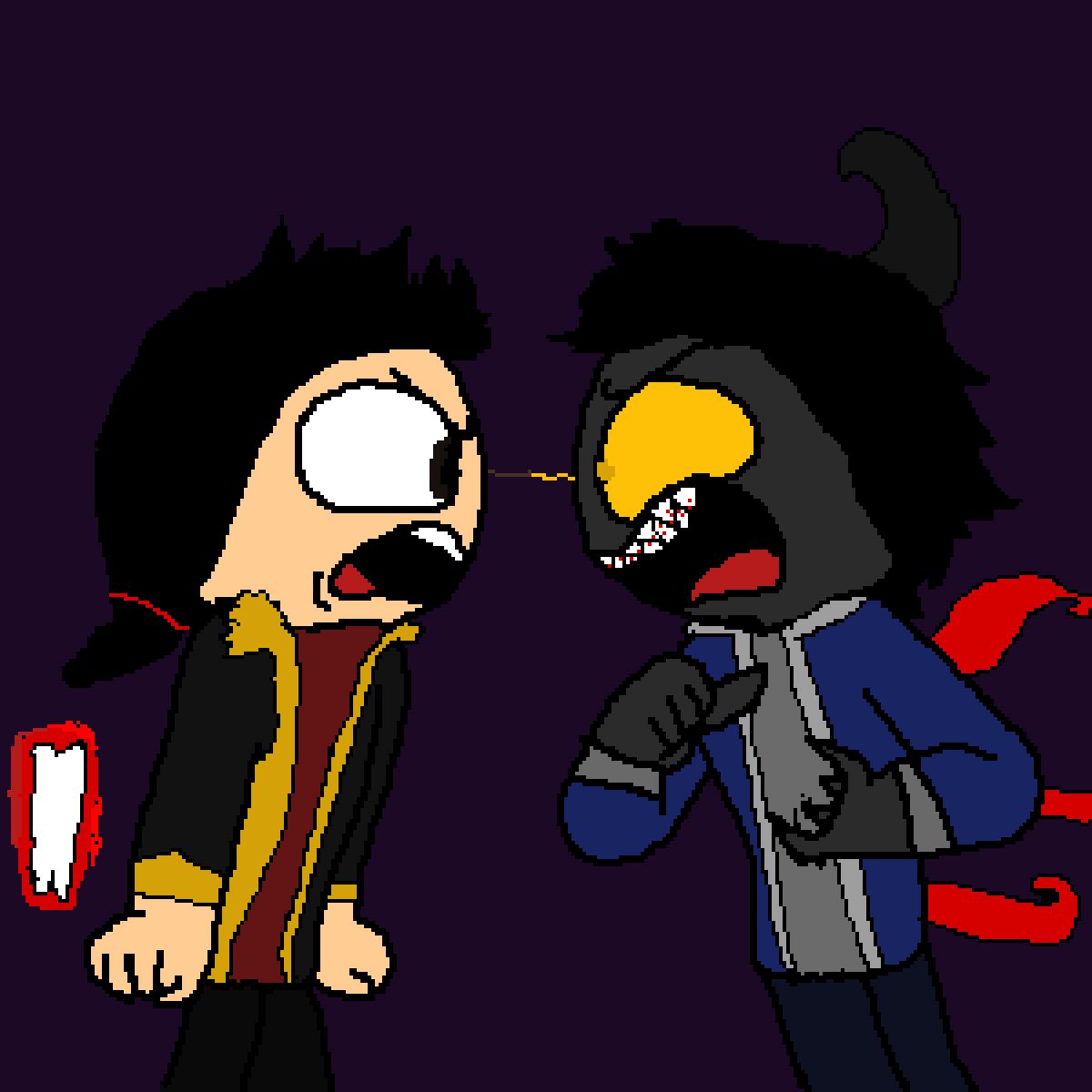 me and oc arguing by sans-sans-jack