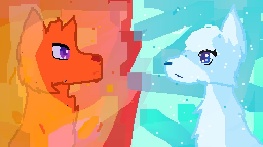main-image-Ice And Fire Wolfs  by Flamey10010