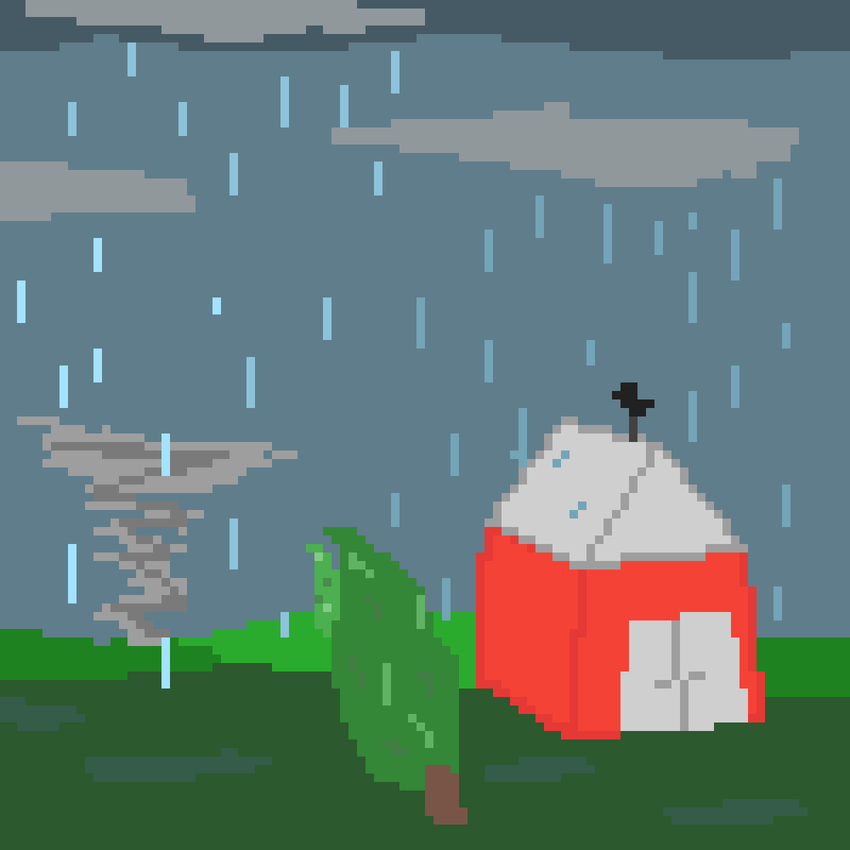 Rain and tornado by WolfieAnonymous
