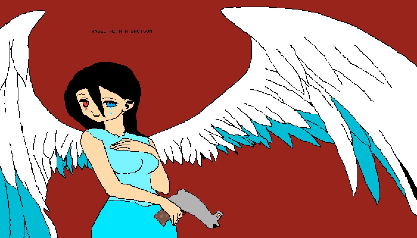 angel with a shotgun by akahayden