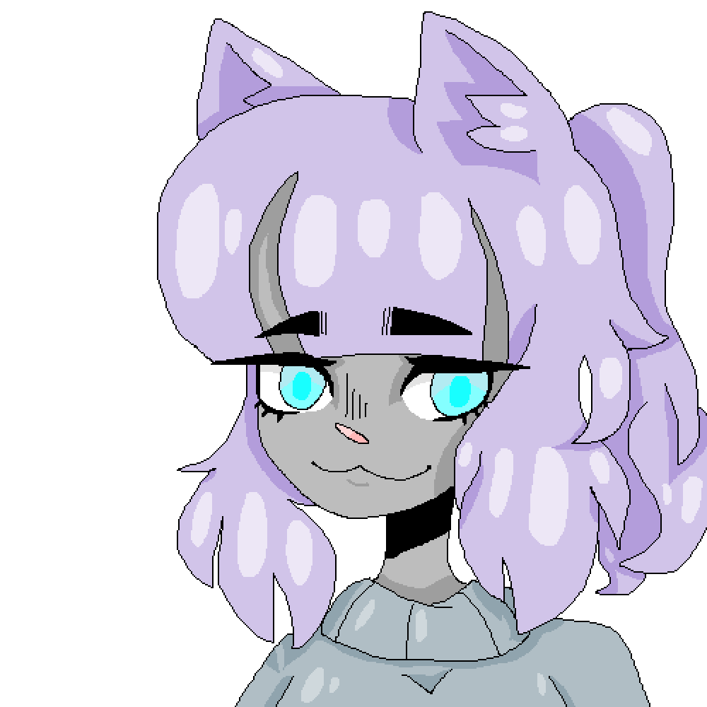 purple cat by Persassy