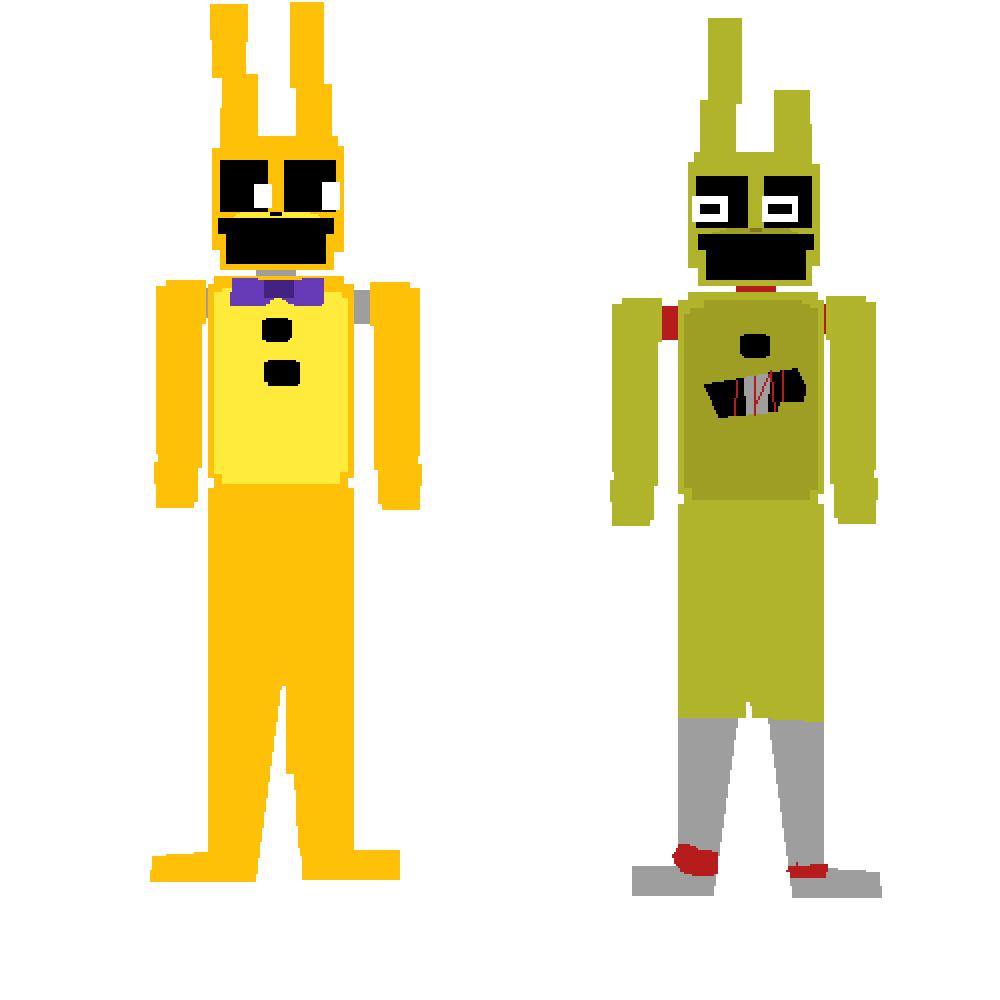 Springbonnie/Springtrap minigame sprites {FNaF} by Left72