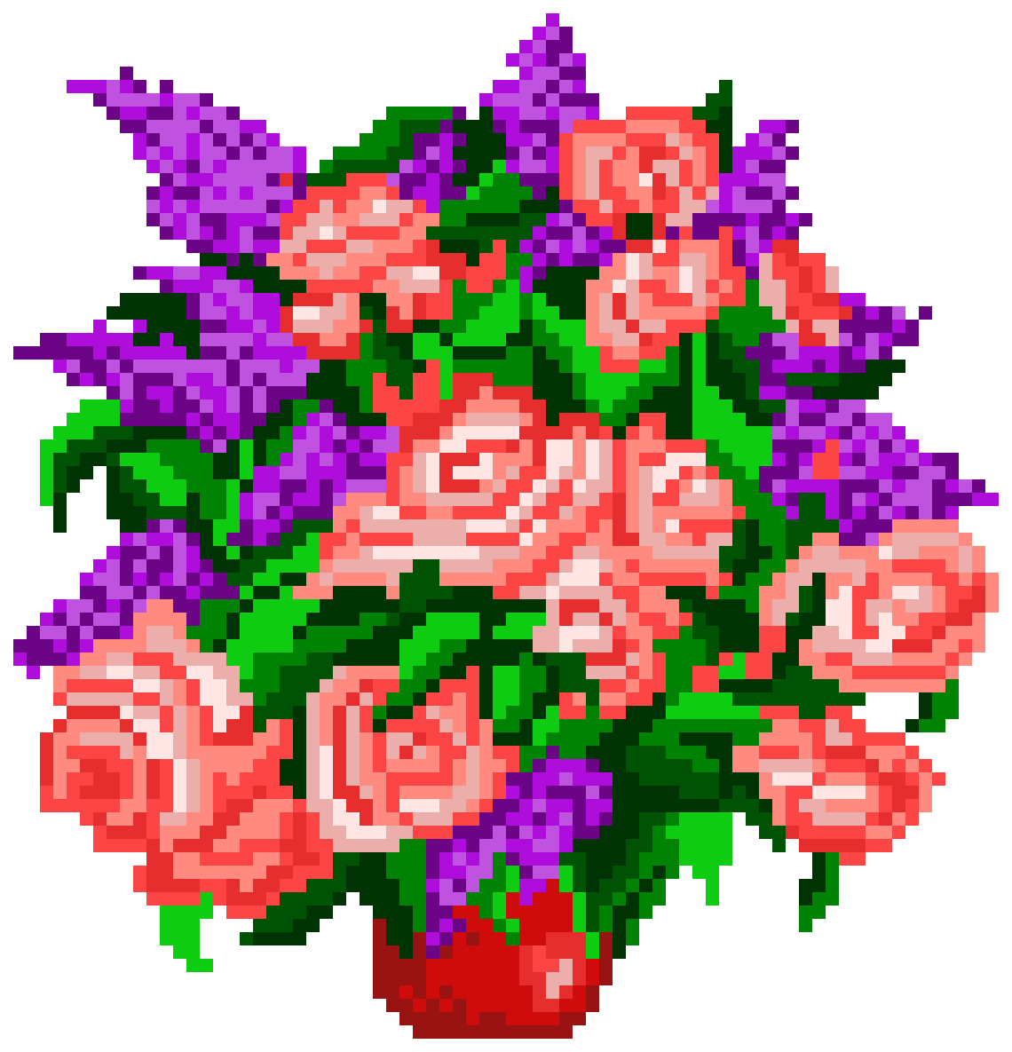 Potted Roses by realmoose