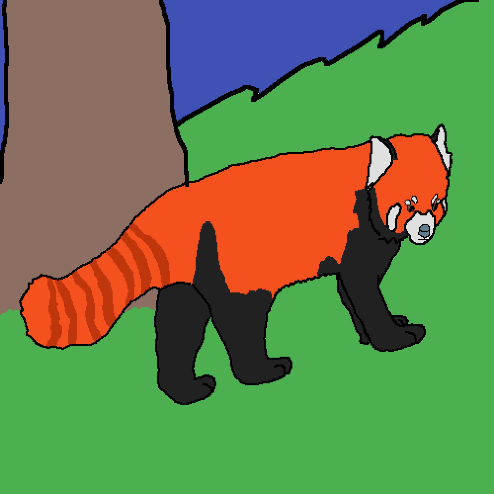 Red Panda by Snickers-Star