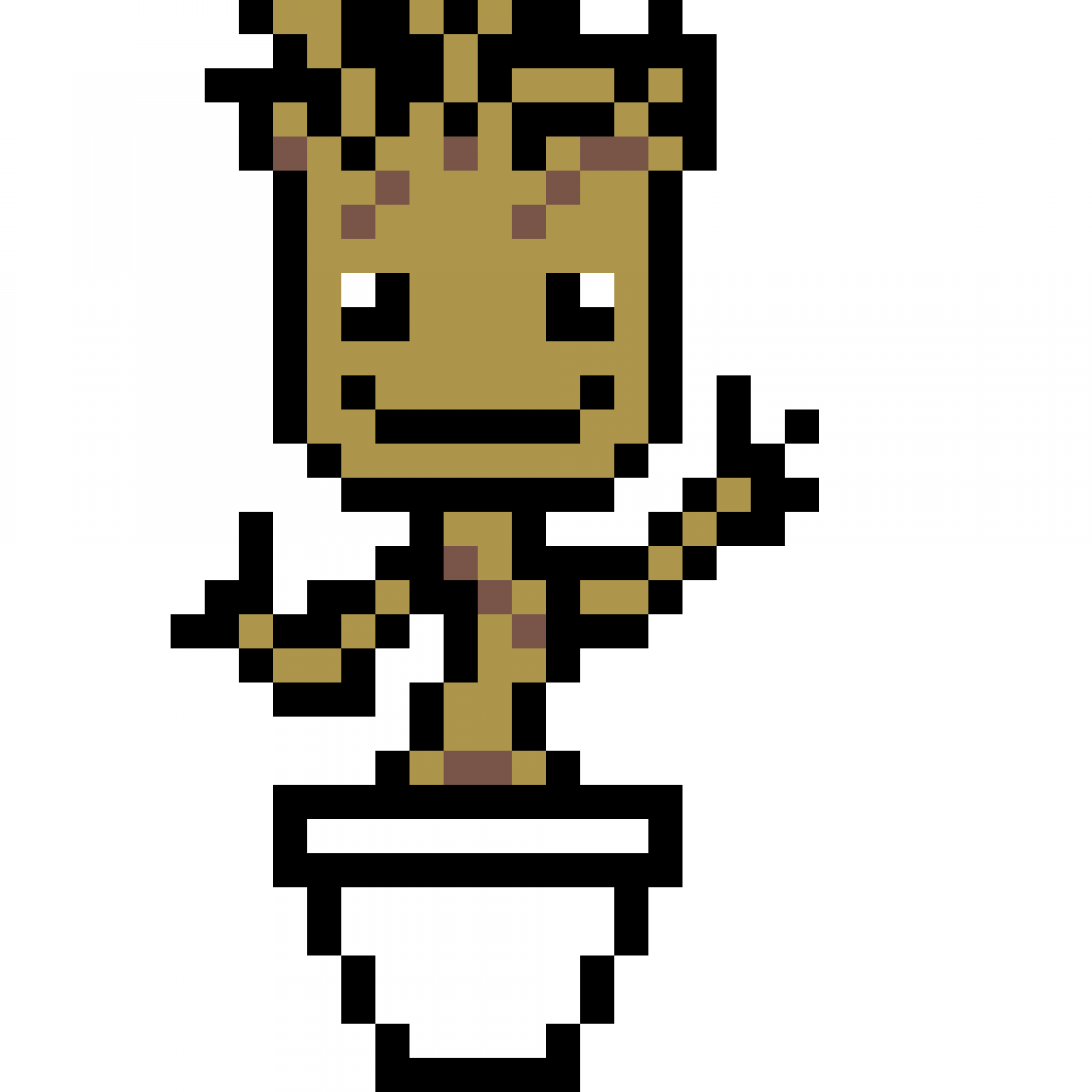 Pixilart Baby Groot By You Pixel Art