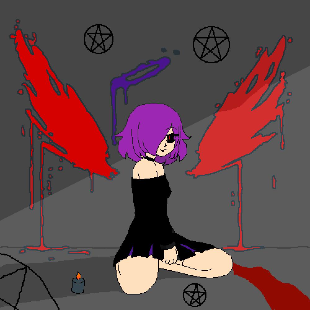 Wanna Join Me...???   - Purple Girl by Mangle-Friend