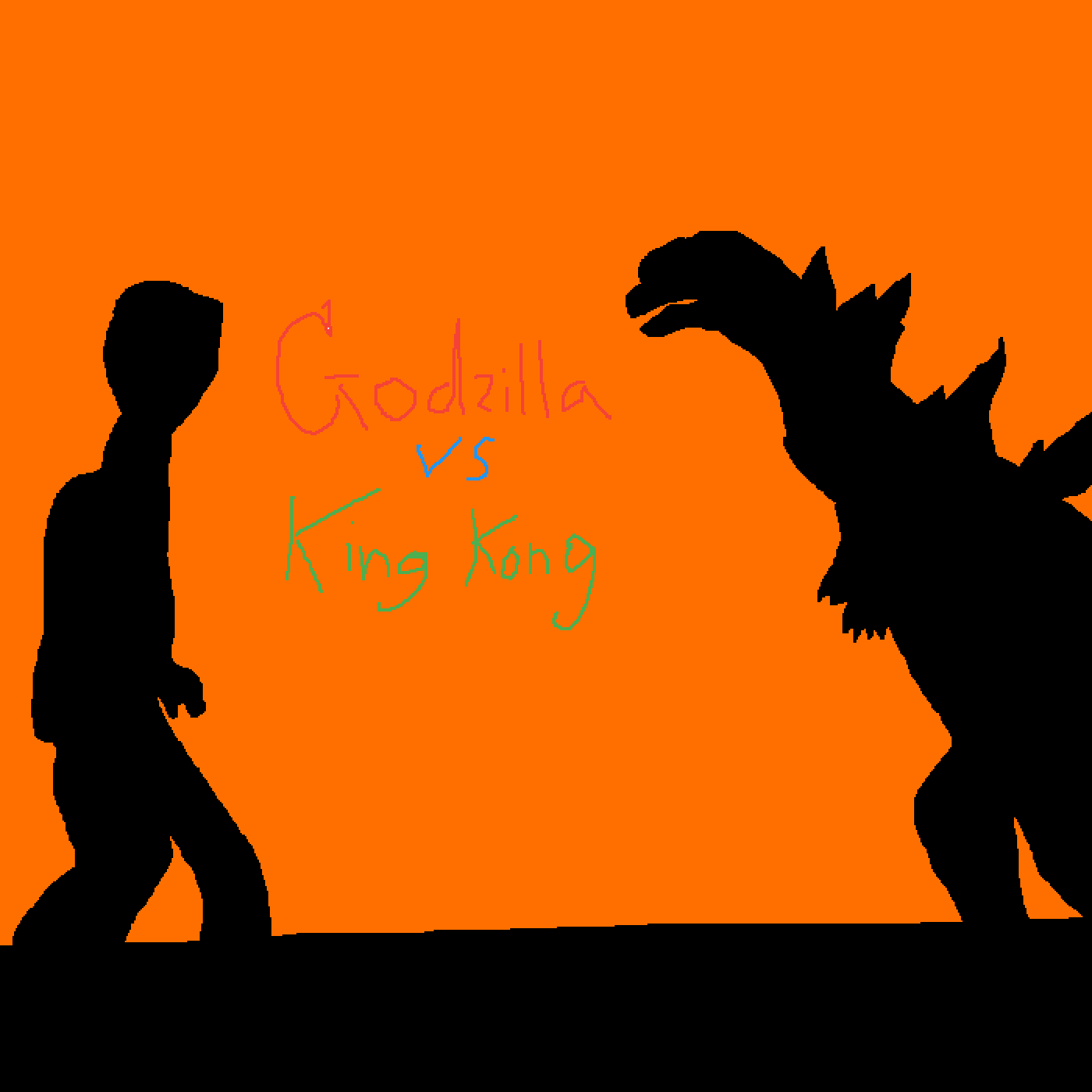 Godzilla vs. King Kong - Who would win?  by XenoZombie725