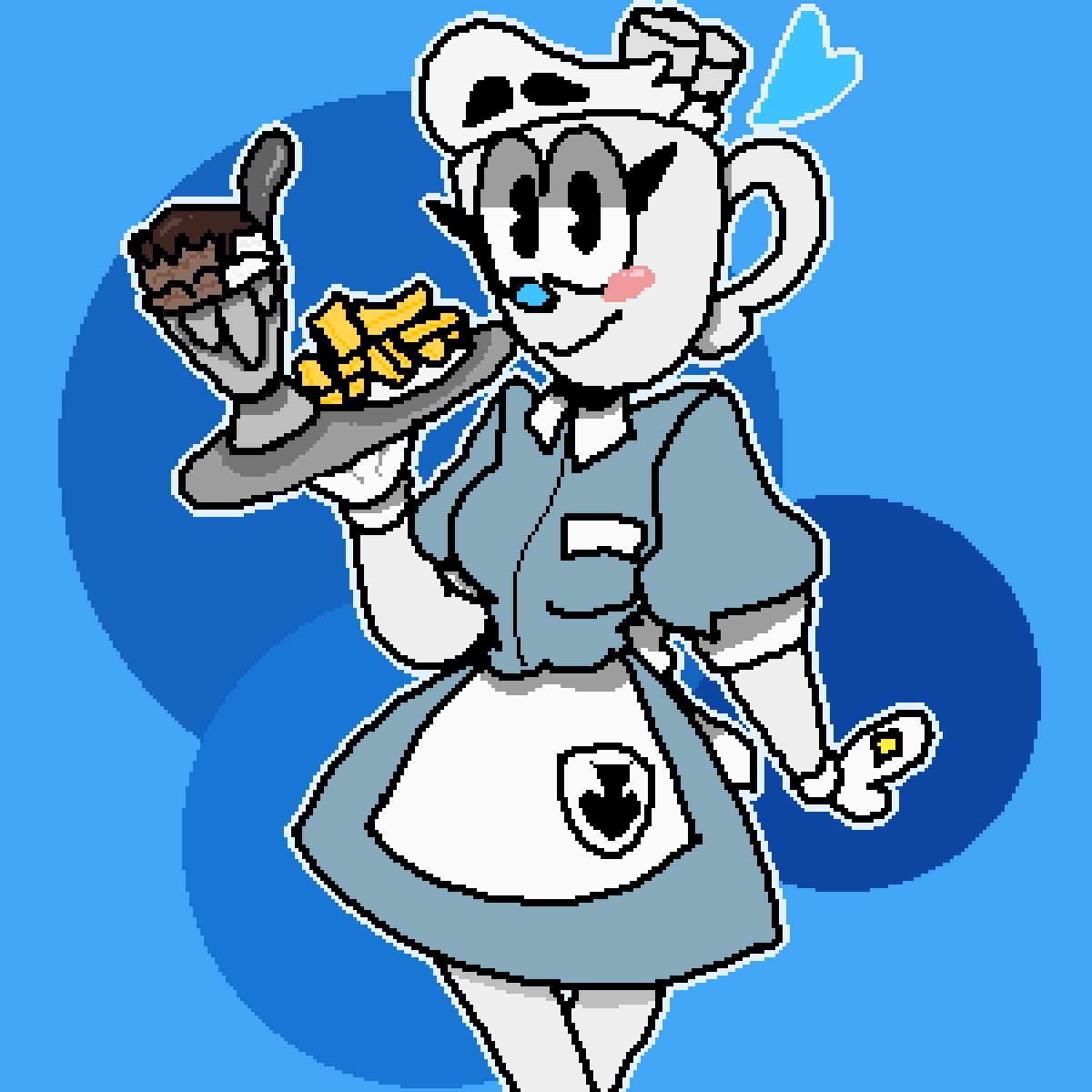 A Sweet Waitress by Bittermeringue