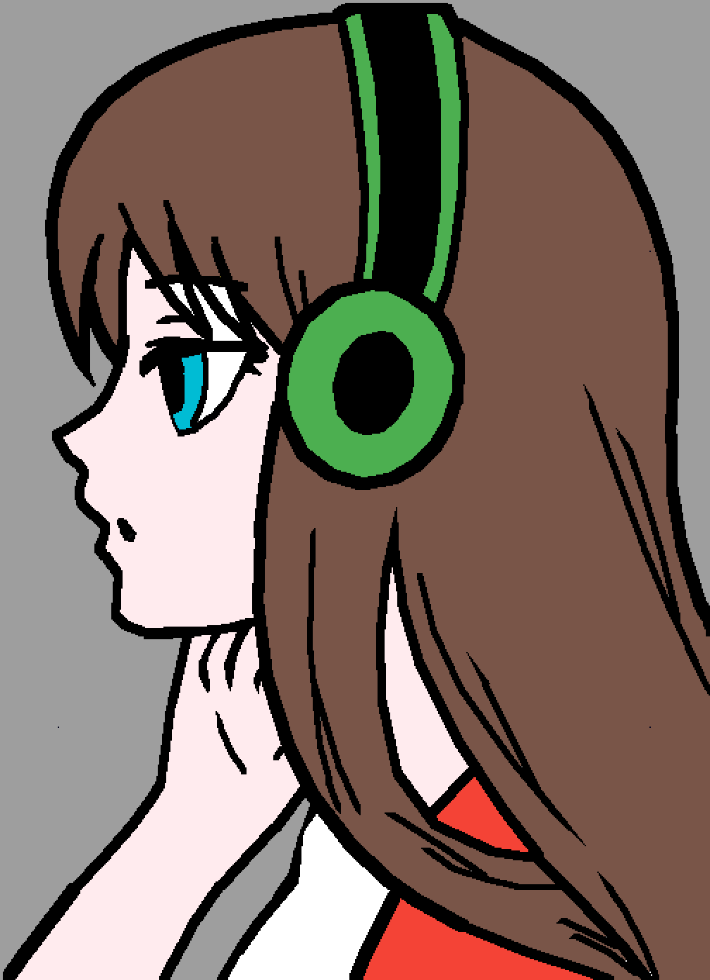 anime girl by dat-one-unicorn