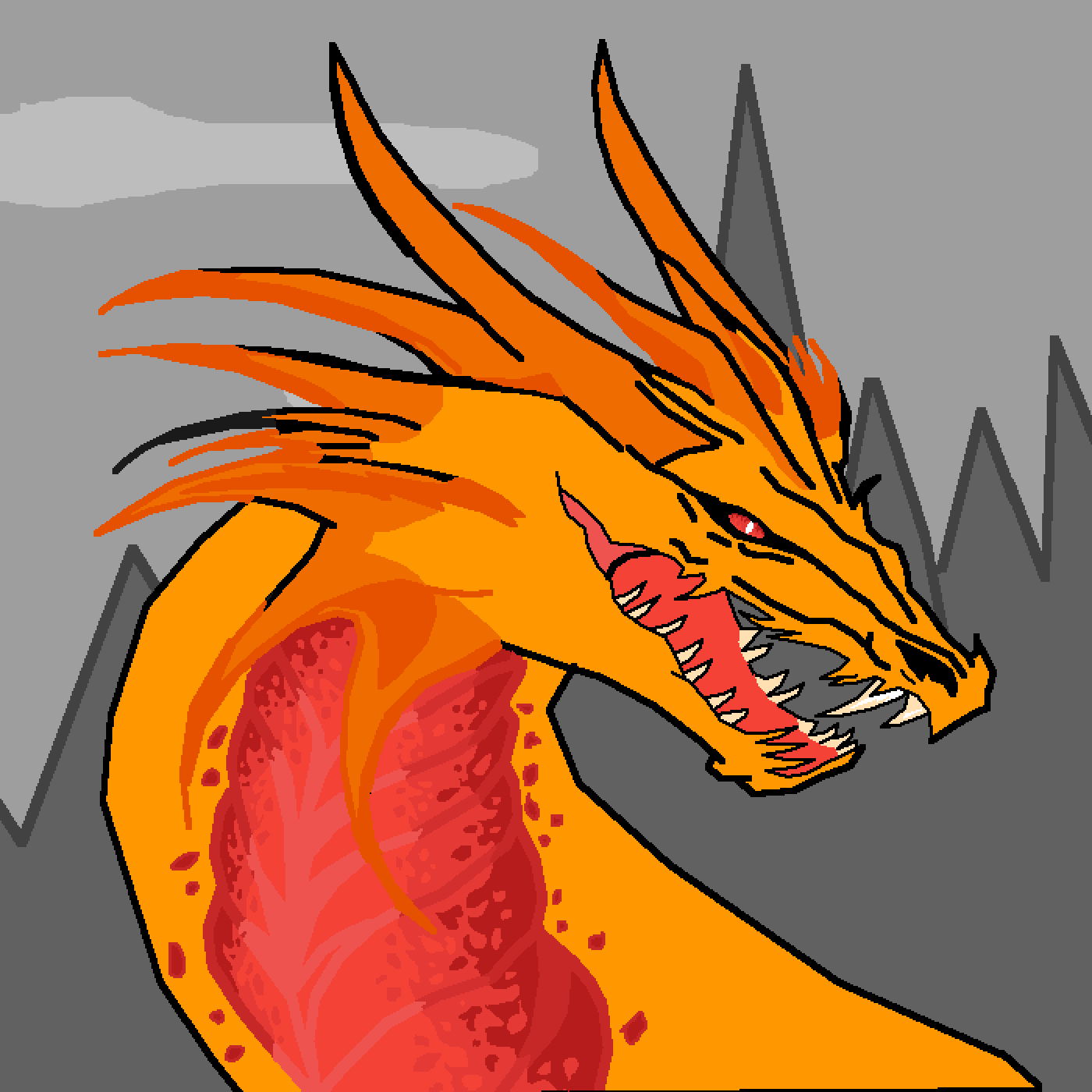 main-image-Evil fire dragon, yes, its edited from someone  by Foxey
