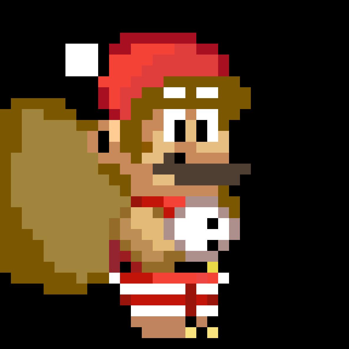 Christmas Mario Png.Pixilart Christmas Mario Custom Emoji By Lazergaming