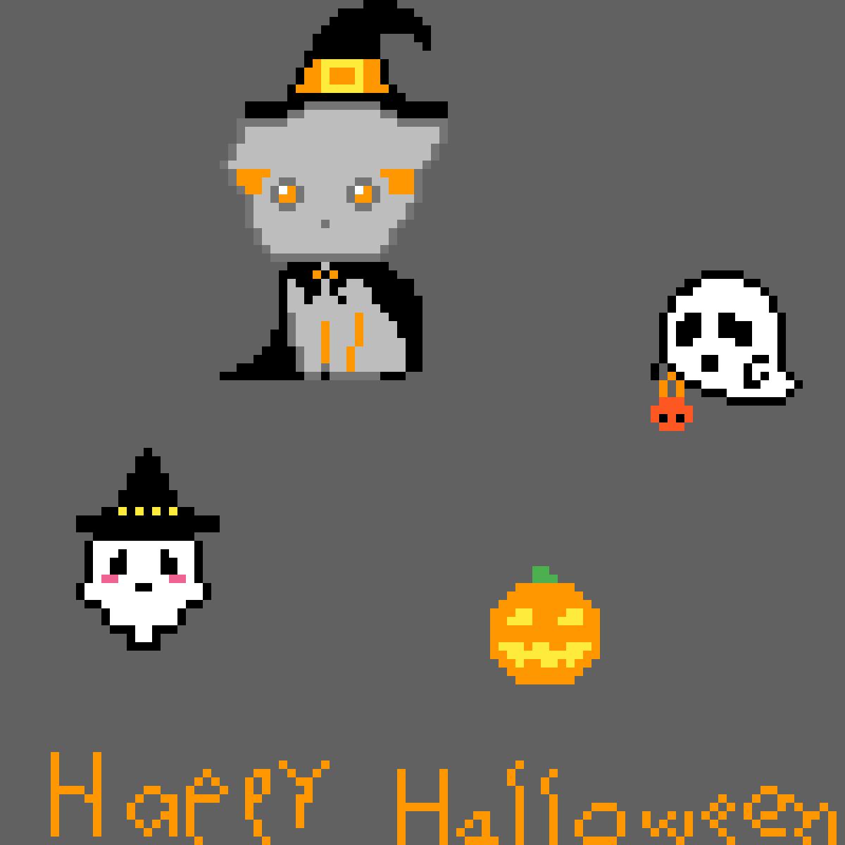 Halloween pixel art by alo1511