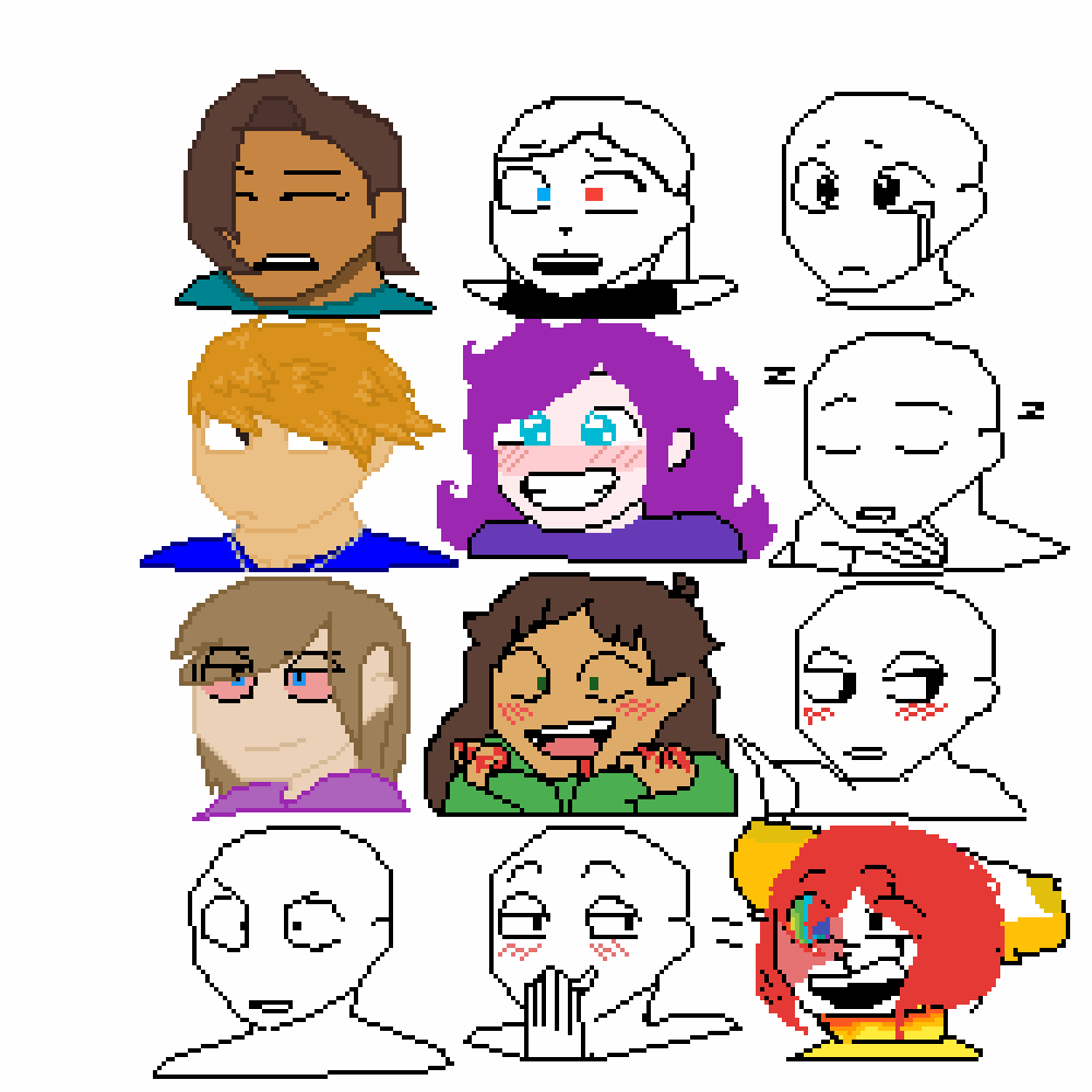 main-image-heads collad  by Flora-Emerald