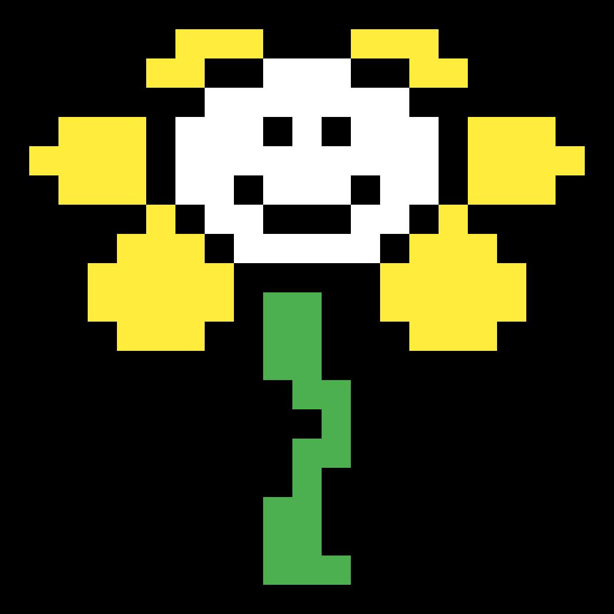 Undertale Sprite: Flowey By Daemon-chan