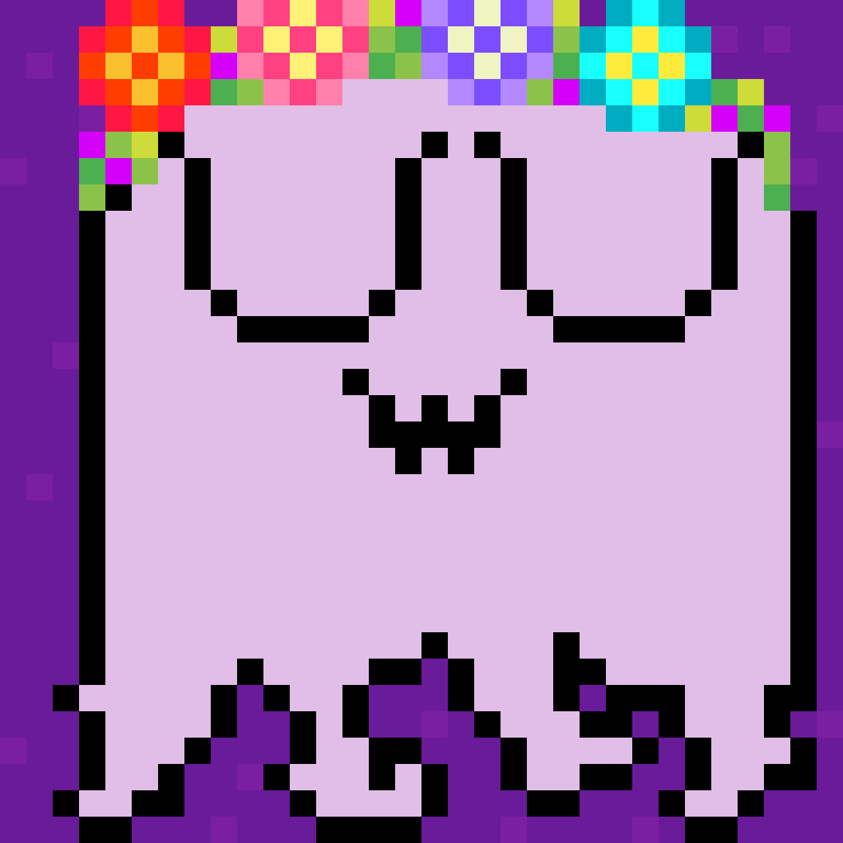 Flower Ghost (UwU) by Dandelion-Dream