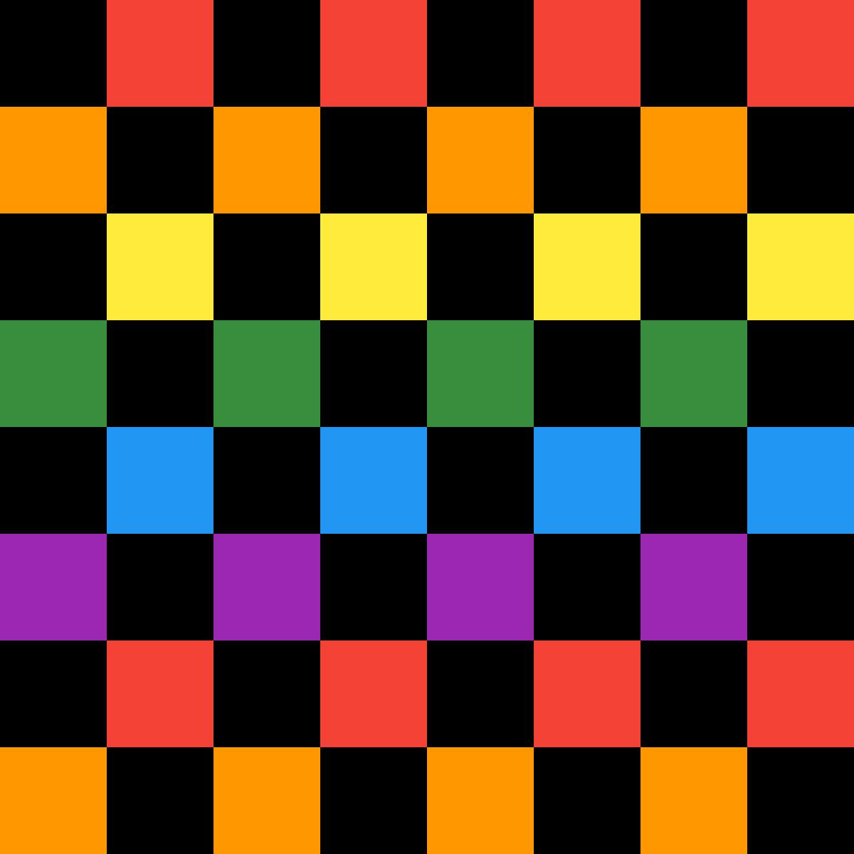 Rainbow Checkerboard by chloemeadow